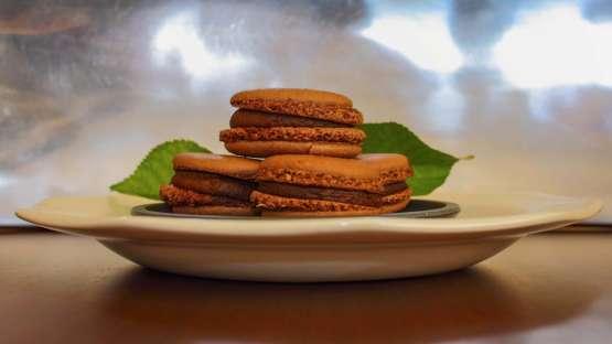 Macarons de chocolate a la flor de sal
